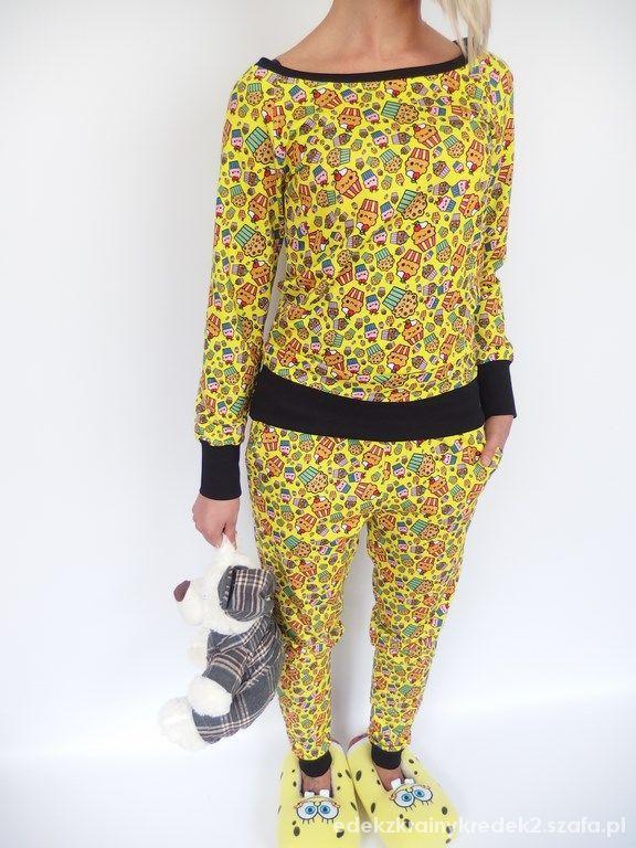 pijama praty jesiennie mufinki komplet spongebob