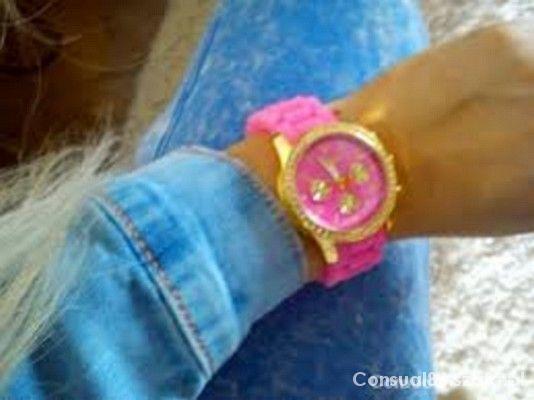 RÓŻOWO złoty zegarek CUDOO