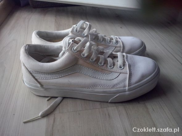 vans biale old skool