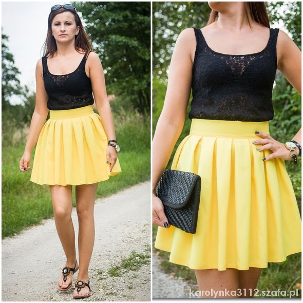Blogerek Żółta spódnica