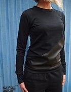 czarny bawełniano skórzany dres nike air max