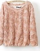 sweterek tłoczone róże free wysyłka