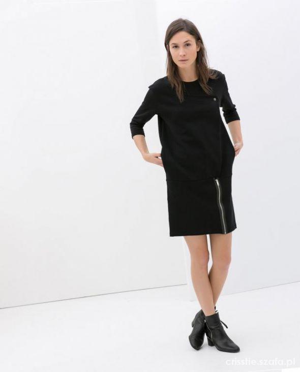 9218139c1a czarna dresowa sukienka hit blogów zara 38 m w Suknie i sukienki ...