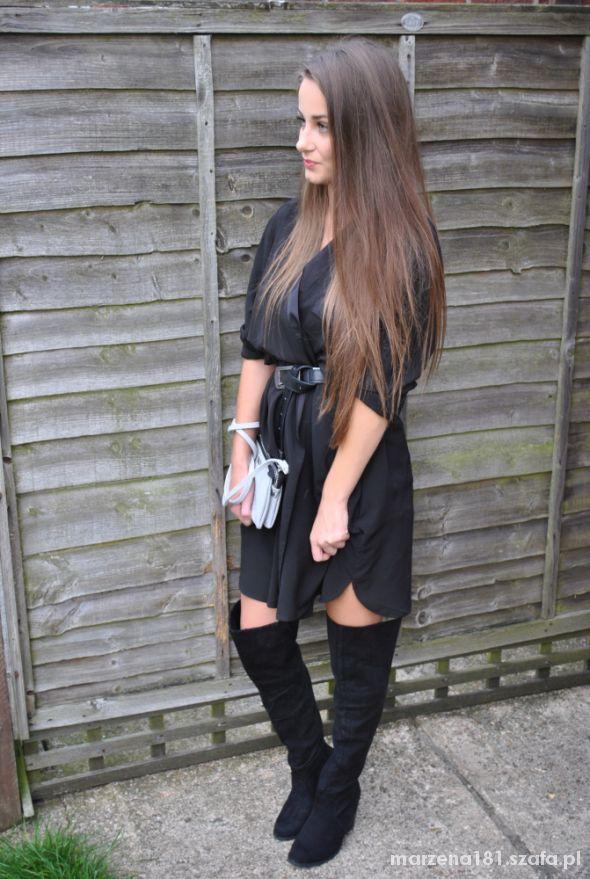 Mój styl Black kimono