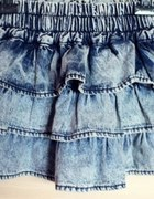 spódnica jeans falbany zamek Bershka