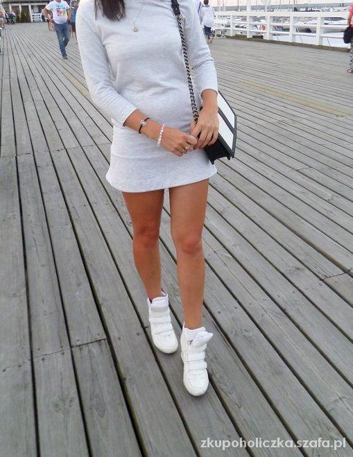 4825a338db ZARA dresowa sukienka szara M w Suknie i sukienki - Szafa.pl