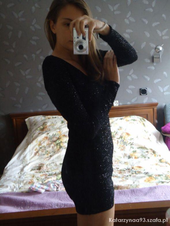 Imprezowe Sukienka H&M brokatowa