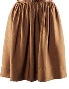 spódniczka z wysokim stanem H&M brązowa
