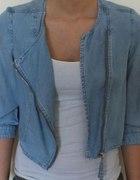 ramoneska kurteczka jeans jeansowa xs zamek