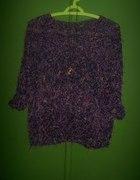 włochaty sweter fluffy kolorowe nitki
