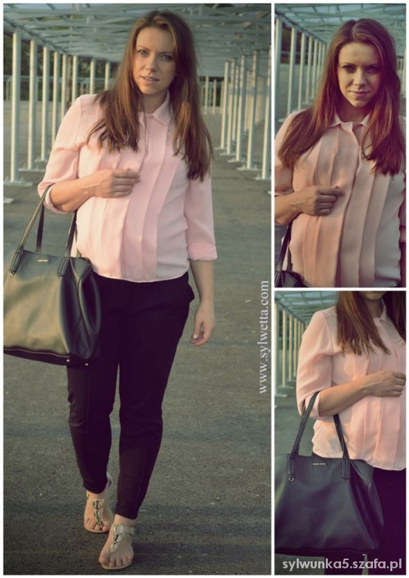 Do pracy Różowa koszula
