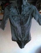 jeansowa kosula body