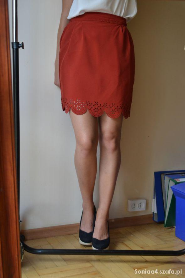 Spódnice spodniczka koronka wysoki stan xs s