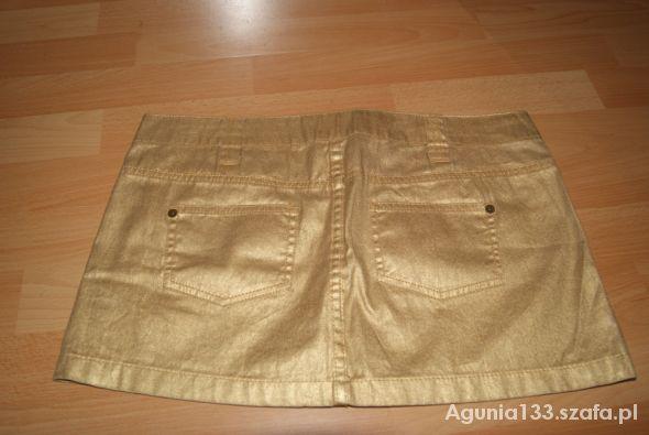 Spódnice złota spódniczka bershka