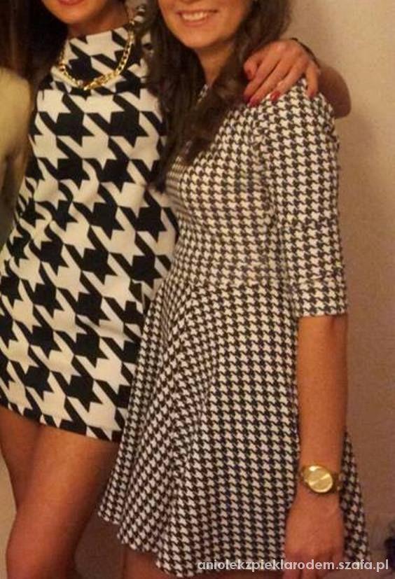 mini sukienka duża pepitka