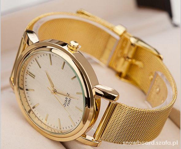 Zegarki blogerki zegarek damski złoty