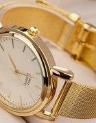 blogerki zegarek damski złoty