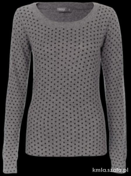 Ubrania Szary sweter w kropki Troll