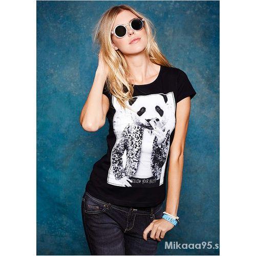 Tshirt z nadrukiem pandy