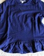 Granatowa bluza z baskinką