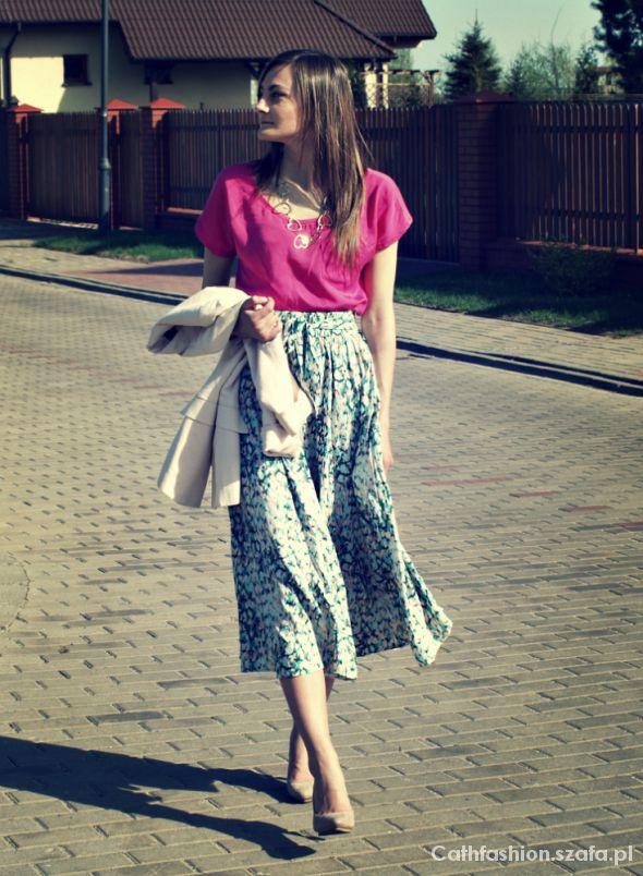 Spódnice Kwiatowa spódnica maxi