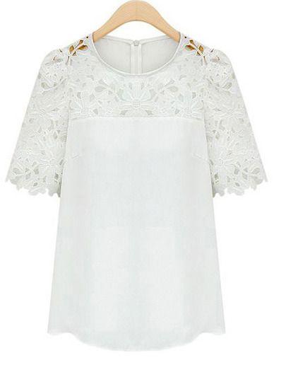 Biała koronkowa bluzka...
