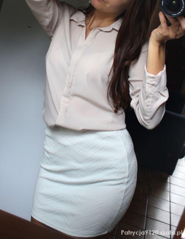 Eleganckie koszula mgiełka hm i mini biała