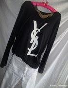 YSL czarno biała ze złotymi ozdobami...