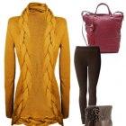 Piękny ciepły sweter narzuta na chłodne dni
