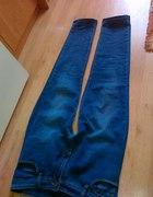 Śliczne jeansy tregginsy niebieskie 42 XL 44 XXL