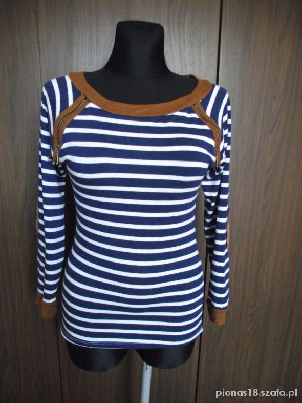 Marynarski sweter S
