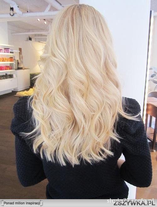 Włosy idealne blond