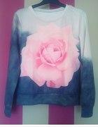 bluza róża kwiat sheinside
