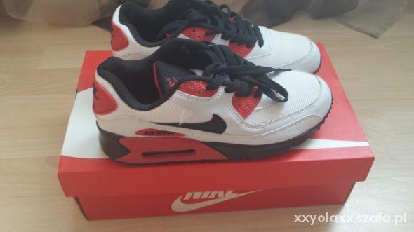 Nike Air Max 90 biało czerwono czarne w Sportowe Szafa.pl