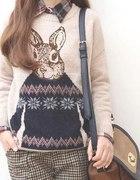 Sweter Damski z królikiem