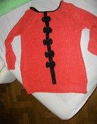 Malinowy sweterek NOWY L