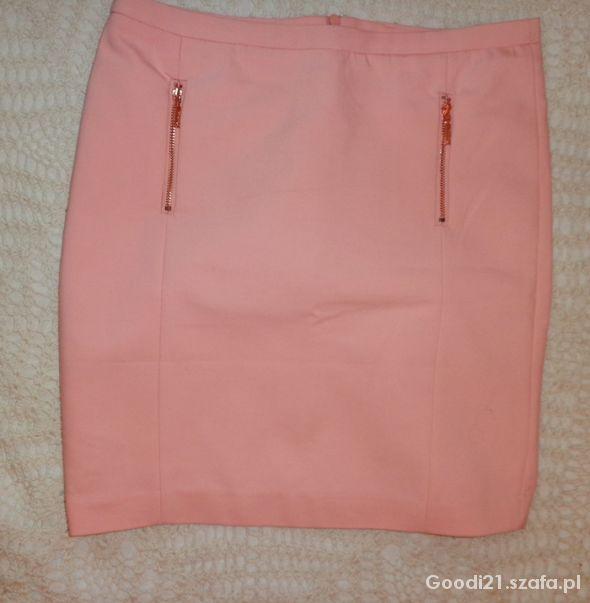 Spódnice Różowa spódniczka z zipami Reserved