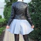gruba rozkloszowana pikowana szara spódnica 34XS
