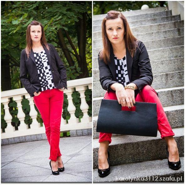 Blogerek Czerwone spodnie