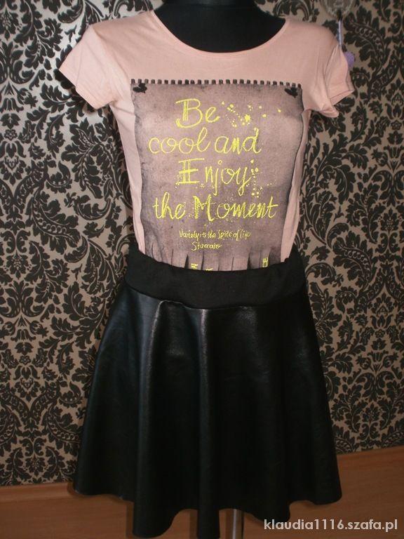 Spódnice Spódnica eko skórka z koła gratis bluzeczka