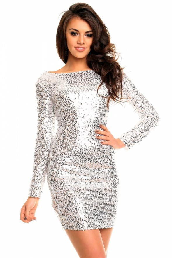 f1738c885b cekinowa sukienka L XL sylwestrowa w Suknie i sukienki - Szafa.pl