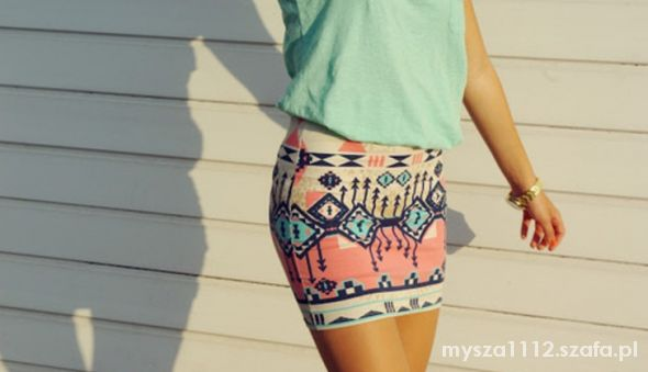 Spódnice aztecka spodniczka bershka