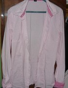 koszula amisu w kratkę różową...
