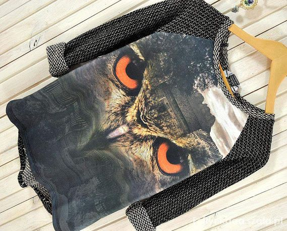 Ubrania bluza sweterek sowa
