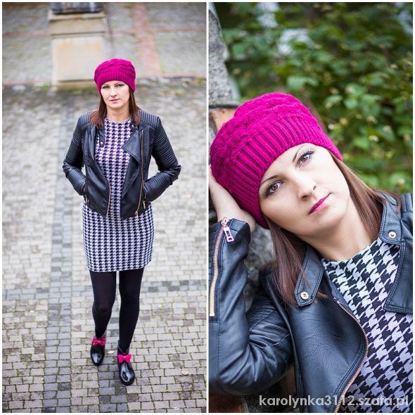Blogerek Pepitkowa sukienka