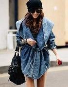japan jeansowa kurtka jeans parka