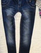 Original denim rurki przecierane jeans 40 L