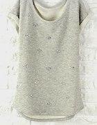Popielata bluzka 44