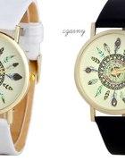 zegarek skórzany złoty aztec