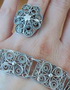 bransoleta i pierścionek filigrany